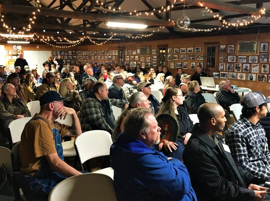 More than 100 people attended a meeting Wednesday in Ono to learn more about plans to repair the damaged Misselbeck Dam.