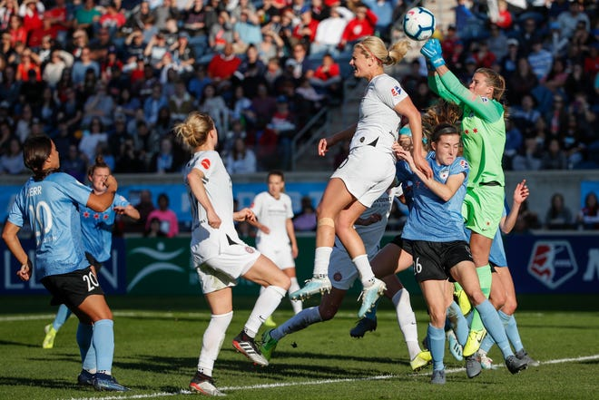 The Portland Thorns drafted Stanford forward Sophia Smith as the first overall selection Thursday in the National Women's Soccer League college draft.