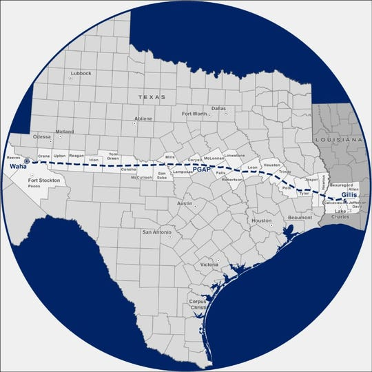 Tellurian Inc. hopes the proposed Permian Global Access Pipeline will be transmitting 2-billion cubic-feet of natural gas per day from West Texas to the Lake Charles area by late 2023 or early 2024.