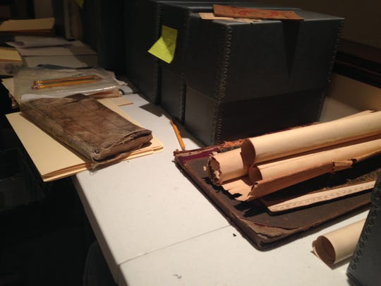 Materials in the Frances Bibbins Latimer Collection that need preservation and digitization. The collection will be part of the new Eastern Shore of Virginia Heritage Center and library in Parksley.