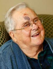 Dorsey Levell laughs during a ceremony honoring him at Gardens Independent Living on Tuesday, Jan. 14, 2020. Levell, the founder of Council of Churches of the Ozarks, died Jan. 22.