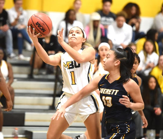 Bryonna Woofter puts up a shot for Mary Baldwin Wednesday night, January 15, in a loss to Averett.