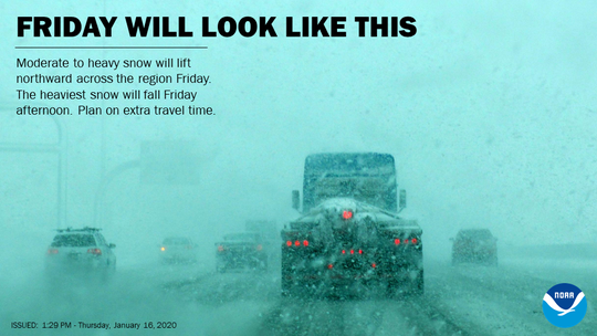 Plan on taking extra time to travel after noon Friday.