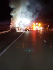 Fiery crash on Wednesday January 15, 2020 in Martin County on Florida Turnpike left a man seriously injured.