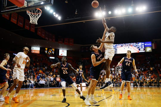 UTEP's Bryson Williams takes a shot against UTSA in overtime during the game Wednesday, Jan. 15, at the Don Haskins Center in El Paso.