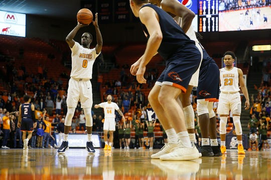 UTEP's Souley Boum shoots a free throw during the game against UTSA Wednesday, Jan. 15, at the Don Haskins Center in El Paso.