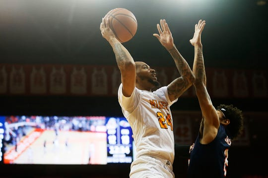 UTEP's Daryl Edwards takes a shot against UTSA during the game Wednesday, Jan. 15, at the Don Haskins Center in El Paso.