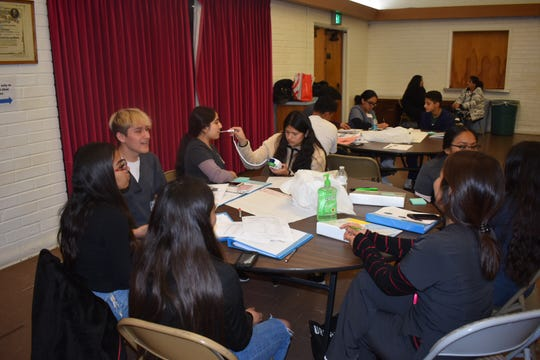 Student interns train at the new Westminster Free Clinic at St. Paul's United Methodist Church in Oxnard.