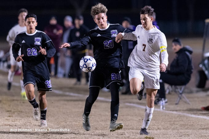 Mission Oak hosts Tulare Union in a boys soccer match on Tuesday, January 14, 2020.