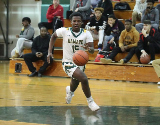North Rockland defeats Ramapo 58-49 in boys varsity basketball action at Ramapo High School in Spring Valley on Wednesday, January 15, 2020.