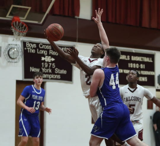 Pearl River defeated Albertus 51-42 in boys varsity basketball action at Albertus Magnus High School in Bardonia on Wednesday, January 15, 2020.