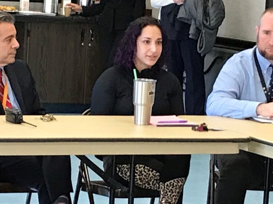 Jackie Sette, a physical education teacher at Highlands Middle School in White Plains, talks Thursday about having to counsel students on numerous issues.