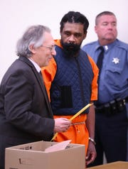 Grafton Thomas, seen with his attorney Michael Sussman, was arraigned in Rockland County Court on Thursday, Jan. 16, 2020.