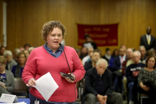 Courtney Williams of Peekskill speaks during the public comment section of a public meeting of the Indian Point Nuclear Decommissioning Citizen Advisory Panel at Buchanan Village Hall on Jan.15, 2020.