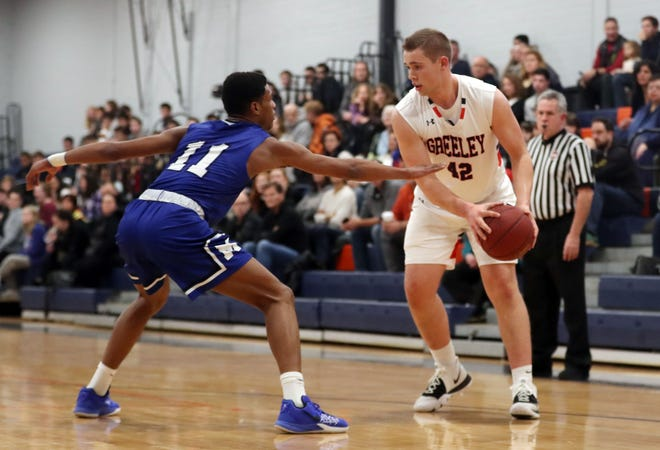Horace Greeley defeated Middletown 55-35 in boys basketball action at Horace Greeley High School in Chappaqua Jan. 15, 2020.