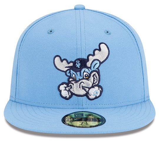 This Carolina blue Wilmington Blue Rocks hat was among the 10 best-selling minor league baseball hats in 2019.