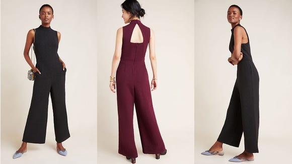 Wide leg jumpsuits are here to say.