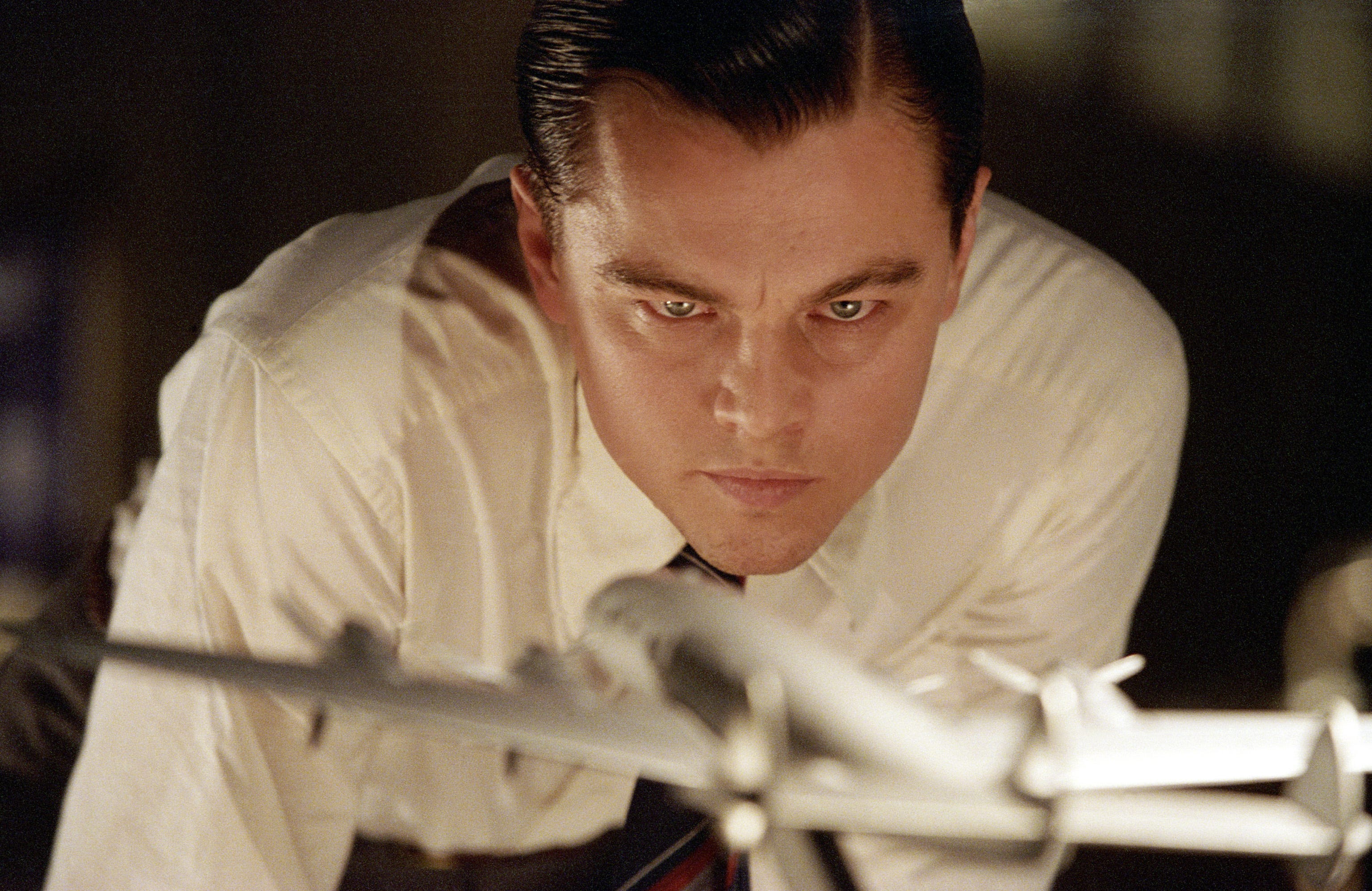 "Leonardo DiCaprio stars as eccentric mogul Howard Hughes in Martin Scorsese's ""The Aviator."""