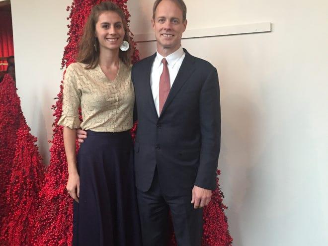 Michael Stumo with his daughter, Samya Rose Stumo, in Washington, D.C., at Christmas 2018.