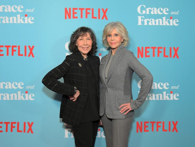 "Lily Tomlin and Jane Fonda attend a special screening of ""Grace and Frankie Season 6"", presented by Netflix, on January 15, 2020 in Los Angeles, California."