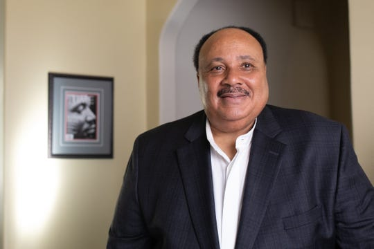 Martin Luther King III poses for a portrait in his Atlanta home on January 9, 2020.