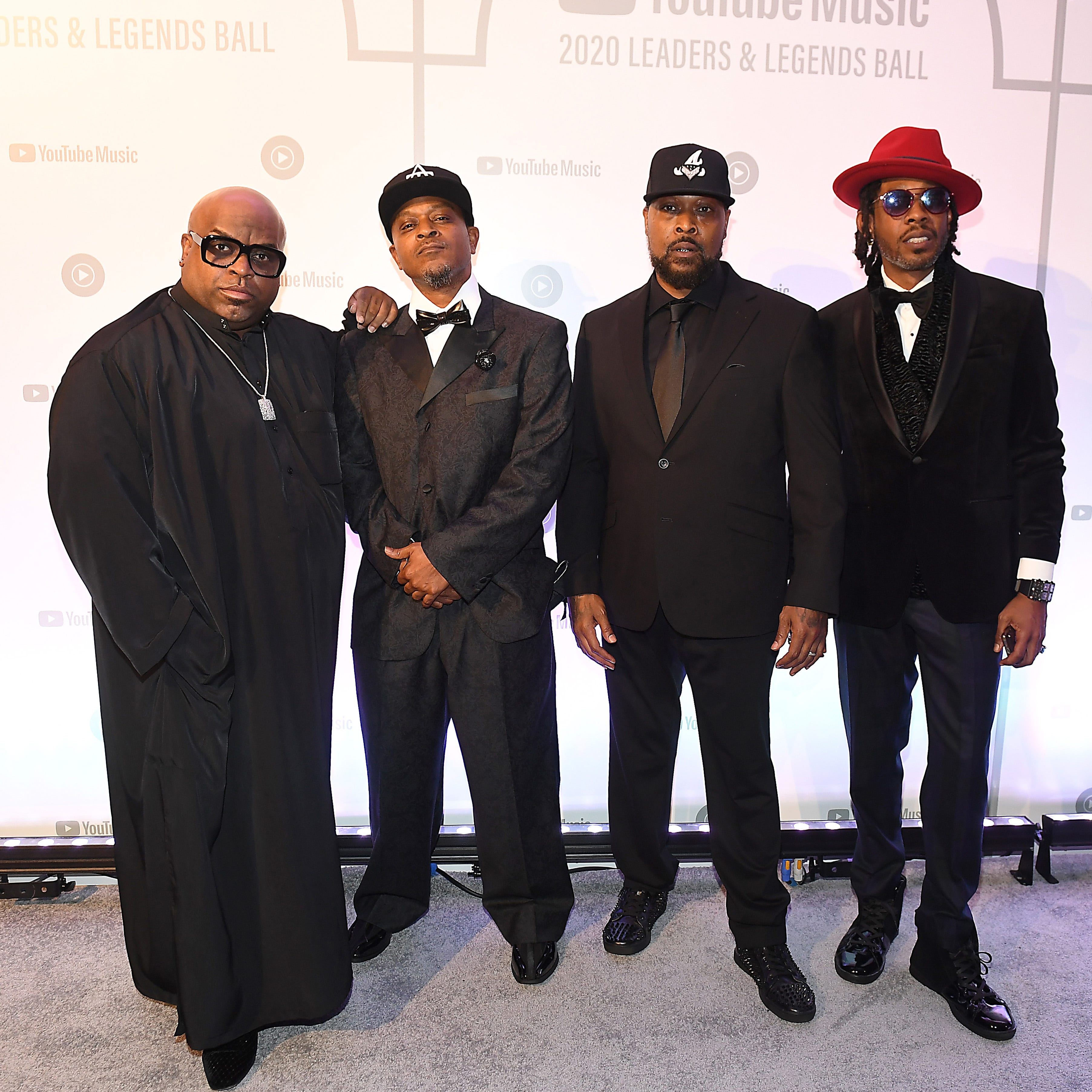 CeeLo Green, T-Mo, Khujo, and Big Gipp of Goodie Mob attend YouTube Music 2020 Leaders & Legends Ball at Atlanta History Center on January 15, 2020 in Atlanta, Georgia.