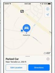 """¿No puede memorar dónde estacionó exactamente cuando estaba en un estacionamiento egregio y ocupado? Apple Maps ahora le permite demarcar fácilmente su transporte. """"Encantado ="""" 180 """"data-mycapture-src ="""" """"data-mycapture-sm-src ="""" """"/> <meta itemprop="""
