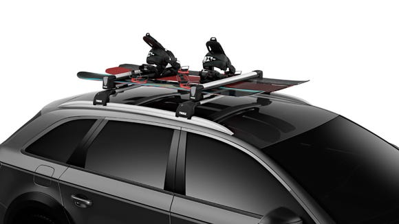 It's easy to carry several snowboards when you have car racks.