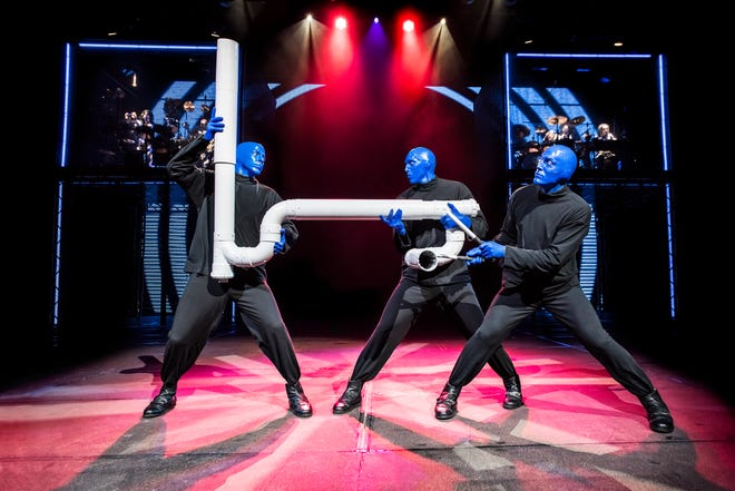 Although much of the show coming to the Fox Cities Performing Arts Center is new, Blue Man Group is sprinkling in a few classic bits. The Drumbone is among them.
