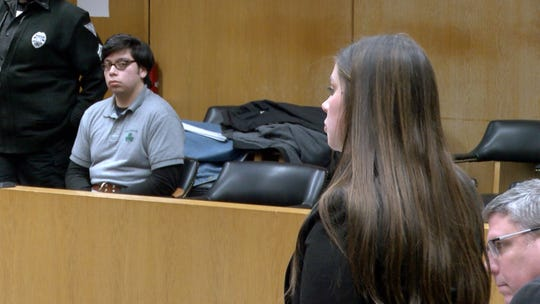 Ocean County Assistant Prosecutor Madeline Buczynski speaks before Edgar Diaz, 18, of Manchester, pled guilty to aggravated manslaughter of his mother Margarita Diaz.  The hearing took place in Judge Wendel E. Daniels courtroom in State Superior Court in Toms River Friday, January 17, 2020.