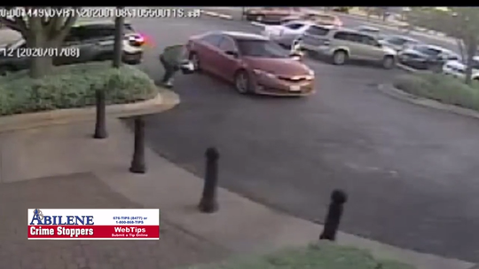 Abilene police seek suspect who allegedly stole multiple items from vehicles parked at north-side day care on Jan. 8.
