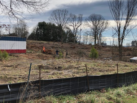 A nearly 8-acre site on Long Shoals Road near Ingles is being cleared for future development, which could include, retail, restaurant or hotel uses, according to the developer. The property backs up to Lake Julian and the Duke Energy power plant.