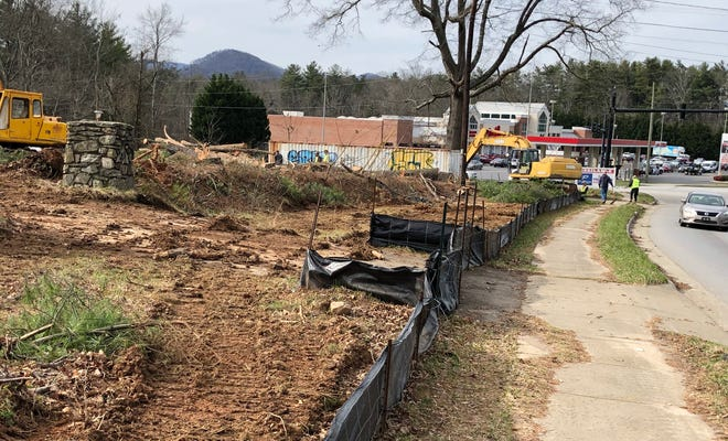A nearly 8-acre site on Long Shoals Road near Ingles is being cleared for future development, which could include, retail, restaurant or hotel uses, according to the developer.