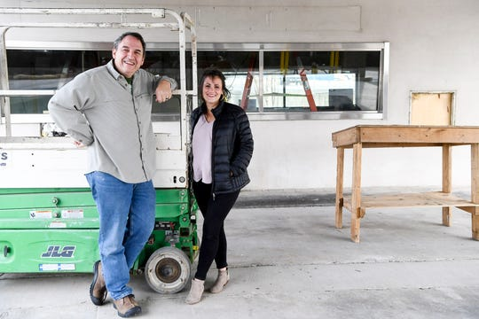 Asheville Brewingowner Mike Rangel and Orange Peel venue manager Liz Whalen Tallent are working to create a multi-use outdoor performance center on 1.25 acres of land formerly owned by Wells Fargo.