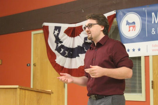 """Micahel O'Shea called himself the candidate with """"the most progressive platform"""" in his pitch to Democratic primary voters."""