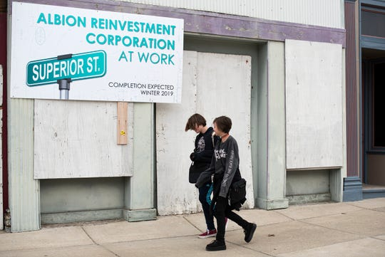 Developers of the Big Albion Plan hope to use local and state tax incentives along with grant money to begin construction in downtown Albion in this fall.