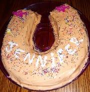 Lovina's family celebrated granddaughter Jennifer's second birthday with a chocolate fudge cake.