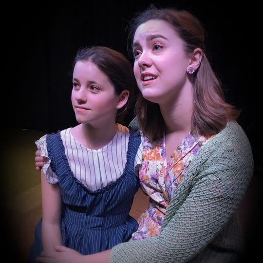 "Megan Howell  and Sarah Walikas star in ""Matilda,"" presented by SRO Productions III, as Matilda and Miss Honey, respectively."