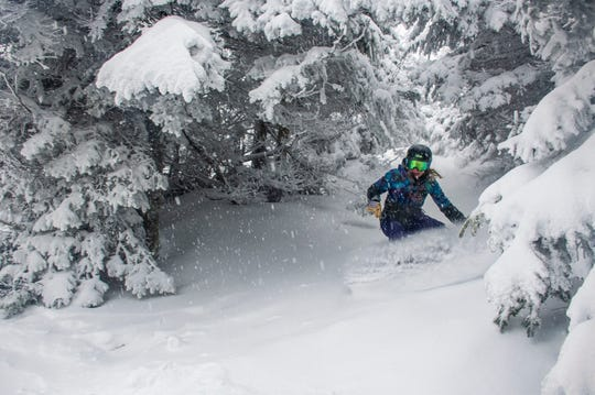 Jay Peak Resort seen Thursday, January 17, 2020. The resort received approximately 8 inches of snow between Wednesday and Thursday and more than expected during the MLK Day Holiday weekend.