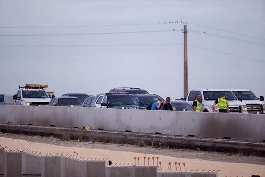 An accident on eastbound South Padre Island Drive slowed traffic to a crawl in the morning on Friday, January 17, 2020.