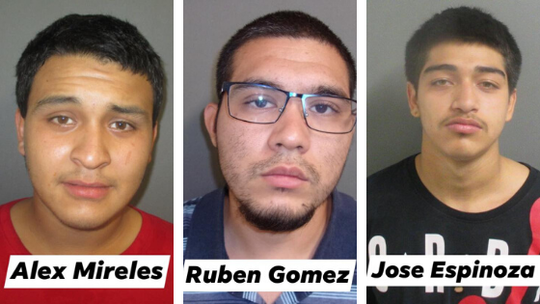 Ruben T. Gomez and Alex R. Mireles were charged with capital murder. Jose F. Espinoza was charged with unauthorized use of a vehicle.