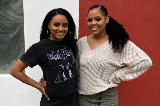 Monet Love and Michelle Joseph stand in front of their future restaurant, Muse Bistro, Friday, Jan. 17, 2020. The two have been friends since middle school.