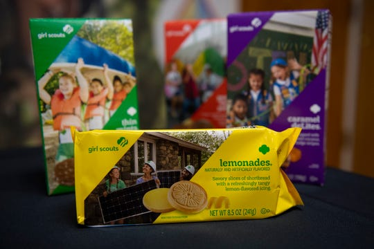 This year's lineup of Girl Scout cookies.