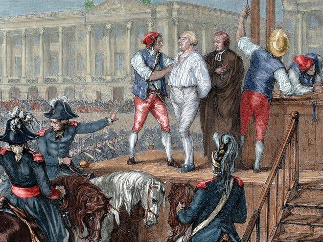 The execution of King Louis XVI.