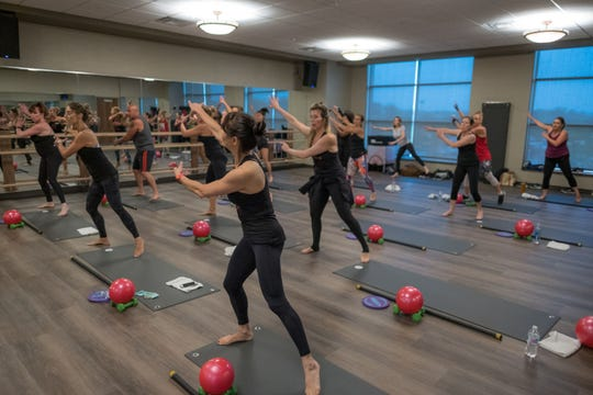 Group classes at Life Time.