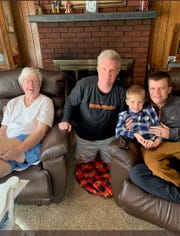 """William """"Bill"""" Fennelly along with his son Bill, great-grandson, Will, and grandson, Billy."""