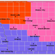 This image from the National Weather Service shows watches, warnings and advisories in Iowa on Friday morning. The area in red is under a blizzard warning starting Saturday. The counties in pink are under a winter storm warning. The remainder of the area is under a winter weather advisory.