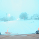 This image from an Iowa Department of Transportation snowplow shows snowfall Friday morning in Creston.
