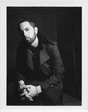 "Eminem promo photo for ""Music to Be Murdered By"""