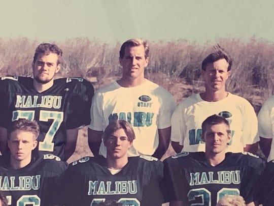 Cory Undlin - center, top row - at his first coaching job at Malibu (Calif.) high school.